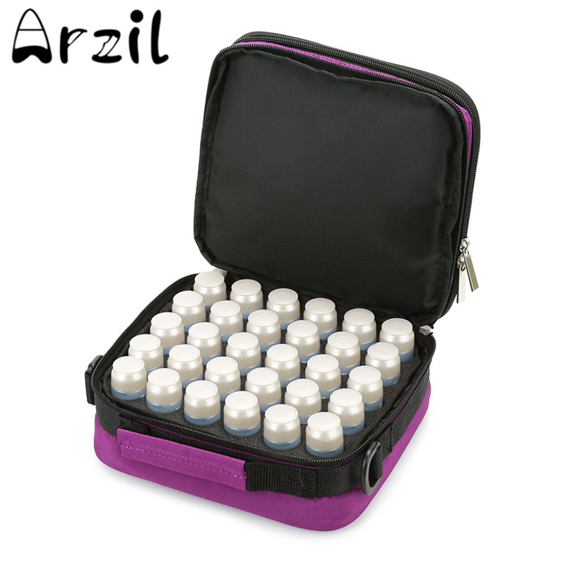 buy 42 bottles essential oil storage bag double layer carrying case nail polish bag holder portable bottles storage bag container from