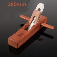 DIY Flat Plane Bottom Edged Handle Tools Woodworking Handle Wood Planer 280mm
