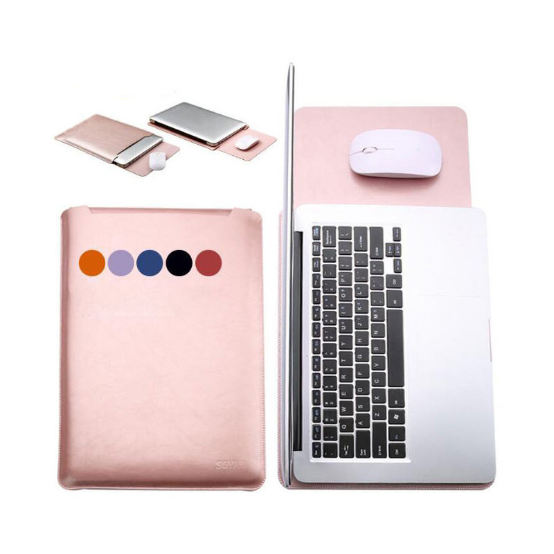 waterproof Notebook sleeve 11 6 12 13 3 15 15 4 inch leather Laptop bag pouch cover for macbook air pro 11 12 13 15 case SY001 in Laptop Bags Cases from Computer Office