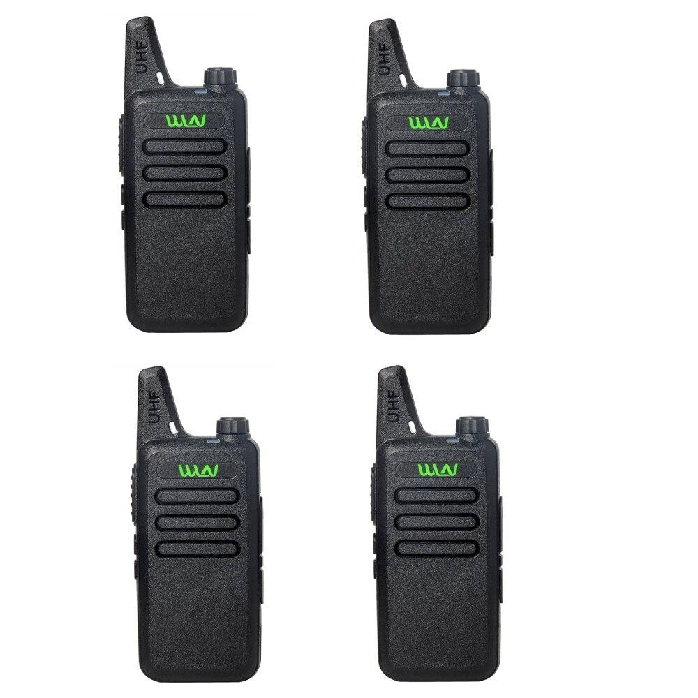 bilder für 4 stücke WLN KD-C1 UHF 400-470 MHz MINI handfunkgerät Fm-zwei-wege-funkamateure communicator Walkie Talkie radio station handliche talky