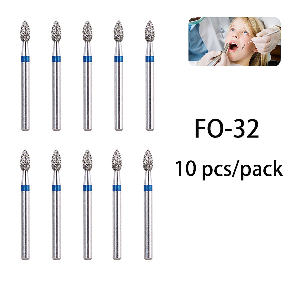 10pcs pack BR 31 Dental Diamond Burs Drill Dentistry Handpiece Handle Diameter 1 6mm Dentist Tools BR 41 TR 13 FO 32 SF 41 in Teeth Whitening from Beauty Health