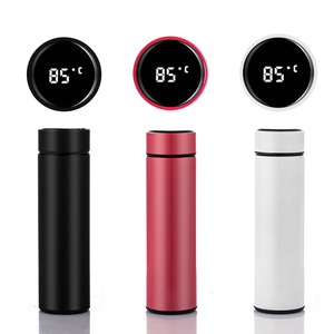 Image 5 - Inteligente garrafa de água de aço inoxidável vácuo balão lcd tela sensível ao toque temperatura display manter o calor & frio mais vida útil da bateria