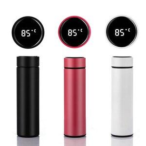 Image 5 - 스마트 워터 병 스테인레스 스틸 진공 플라스크 LCD 터치 스크린 온도 디스플레이 열 및 차가운 배터리 수명 유지