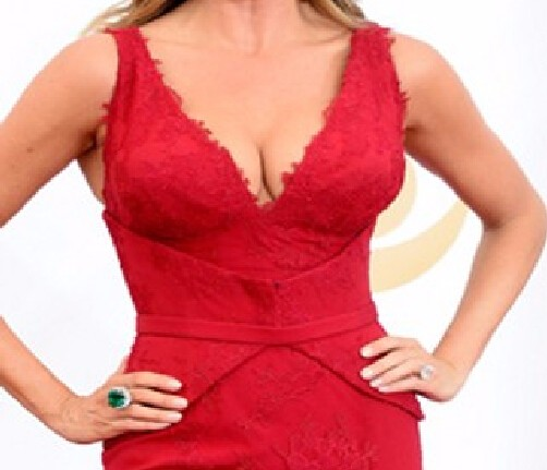 Free-Shipping-Charming-Deep-V-Neck-Sofia-Vergara-Red-Mermaid-Lace-Celebrity-Dress-Emmy-Awards-2016 (4)