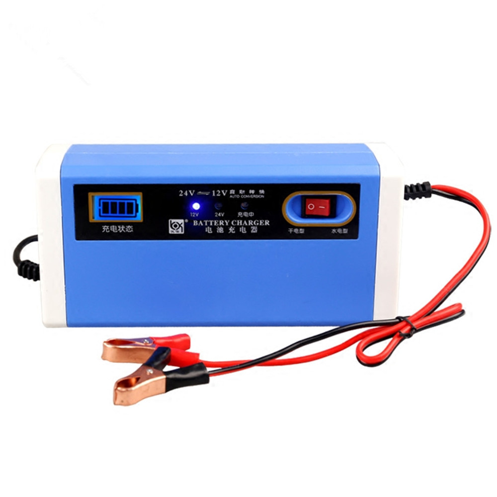 new 12 24v 10a digital lcd car battery charger motorcycle power charger for lead acid battery. Black Bedroom Furniture Sets. Home Design Ideas