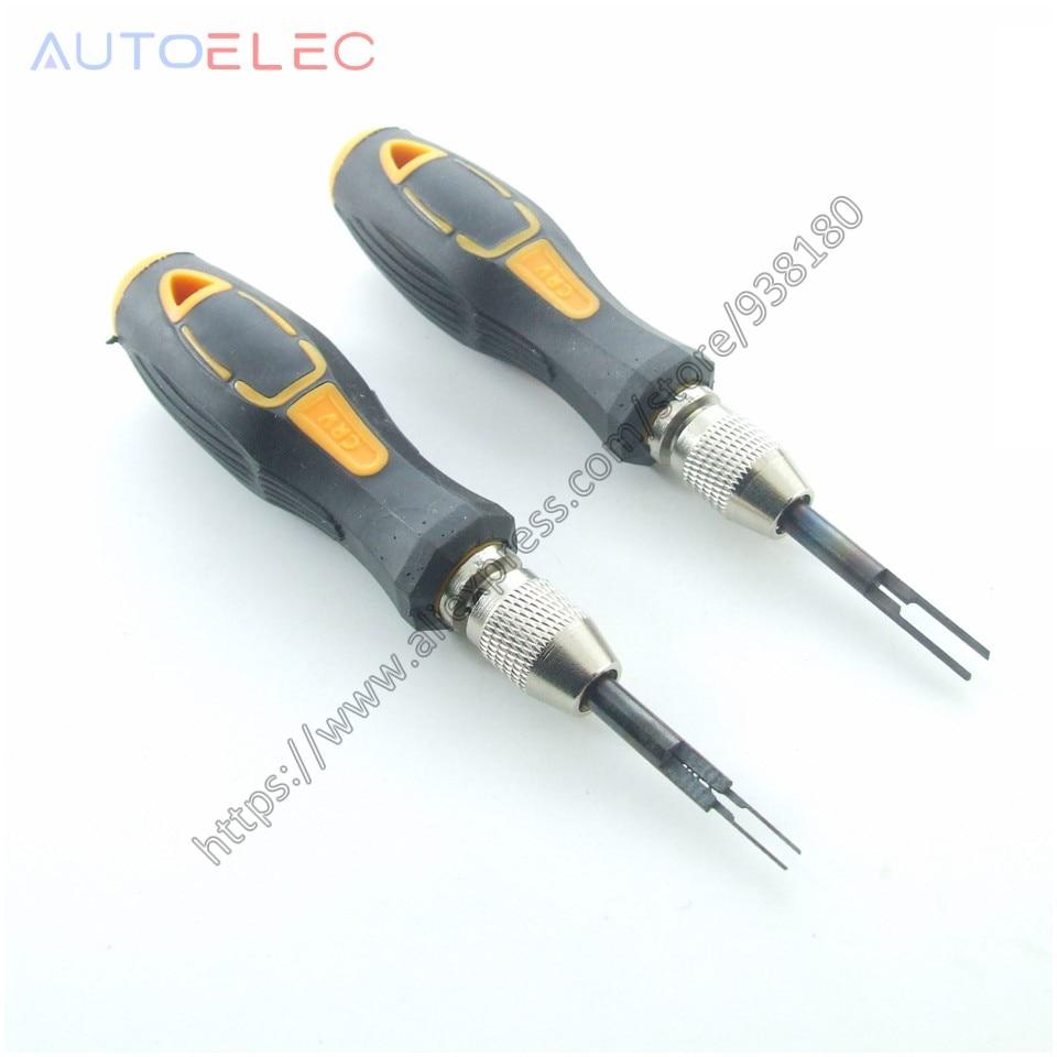 1 stücke AT35 & 1 stücke AT15 Pin Release Extractor Crimp Pin Zopf Stecker Terminal Entfernung Demontieren Tool Kit für molex DELPHI tyco AMP