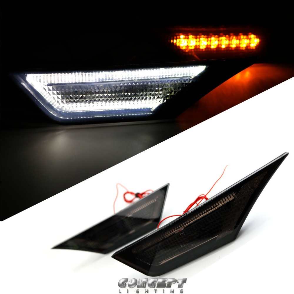Smoked Lens LED Side Marker Lights For 2016-up 2017 10th Gen Honda Civic Sedan/Coupe/Hatchback