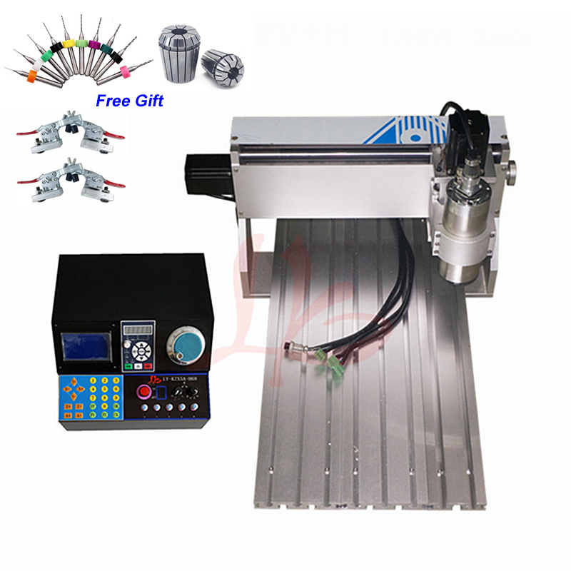 Mini tour CNC routeur 3020 800 W Machine de gravure pour le travail du bois coupe de métal