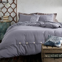 2018 New minimalist pure style home textiles bedding set bed linen set Duvet cover Bed sheet pillows soft and comfortable queen