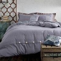 2018 חדש מינימליסטי טהור סגנון בית טקסטיל מצעים סט שמיכת כיסוי מיטה גיליון כריות רך ונוח מלכת|bed linen set|bedding setbed sheet -