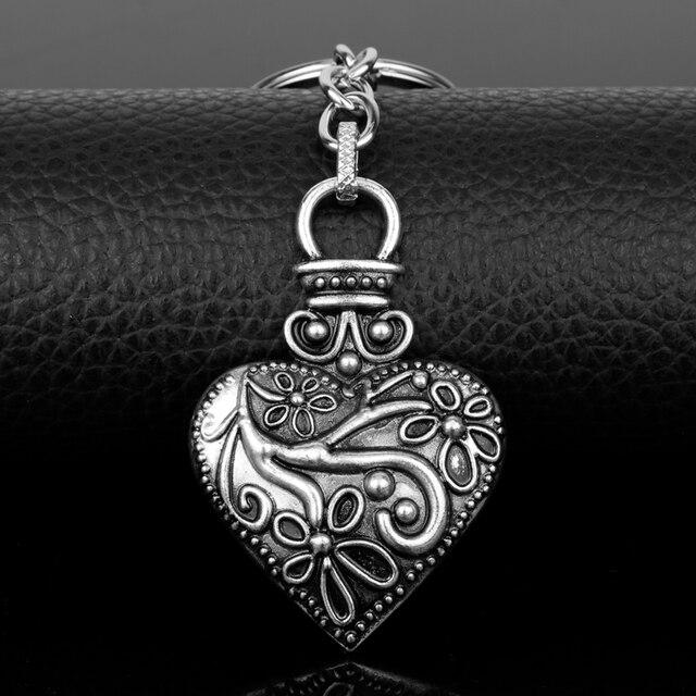 US $1 5 49% OFF|dongsheng The Vampire Diaries Keychain Caroline Forbes  Heart Key Ring Men Women Vervain Keyring Key Chain Key Holder Gifts 50-in  Key