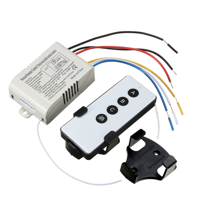 Best Promotion 3 Way Port ON OFF Wireless Digital RF Remote Control Switch Receiver Transmitter For