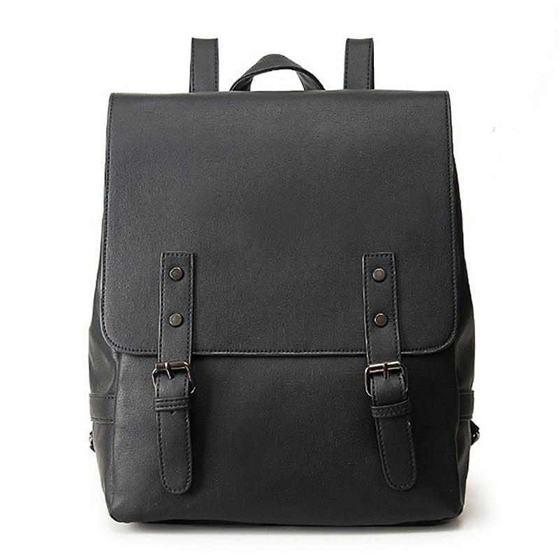 Ladies Backpack Large Girl Shoulder Bag Retro Pu Leather Backpack Casual Solid BackpackLadies Backpack Large Girl Shoulder Bag Retro Pu Leather Backpack Casual Solid Backpack