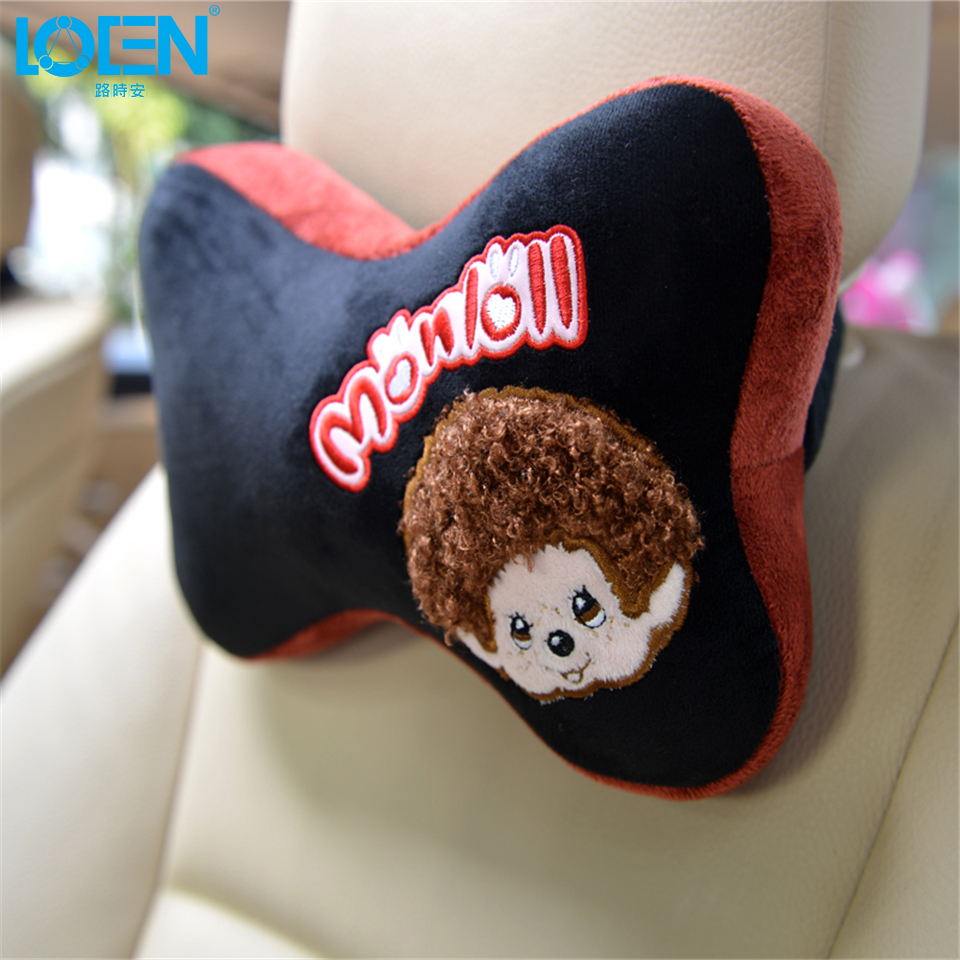 Hot selling 1pcs cute cartoon headrest pillow car seat cover headrest neck pillow cushion cover auto