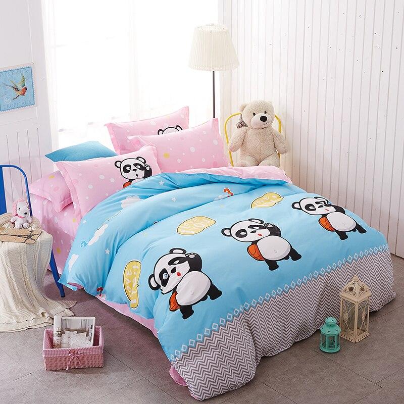 Panda Cartoon Bedding Set Kid Boy Teen Girl Bed Linens Twin Full Queen King 3/4Pcs Panda Cartoon Bedding Set Kid Boy Teen Girl Bed Linens Twin Full Queen King 3/4Pcs