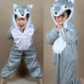 Дети пижама комикс серый волк животное курица косплей-костюмы пижамы дети Onesies пижама год