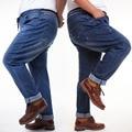 Pantalones vaqueros de los hombres 2016 otoño más el tamaño de gran tamaño grandes hombres jeans stretch denim cómodo pantalones vaqueros elásticos de la cintura para los hombres