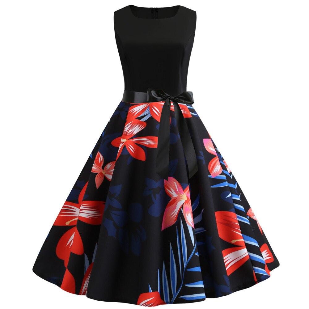 HTB1YHRXbvfsK1RjSszgq6yXzpXak Women Summer Dresses 2019 Robe Vintage 1950s 60s Pin Up Big Swing Party Work Wear Rockabilly Dress Black Polka Dot Vestidos