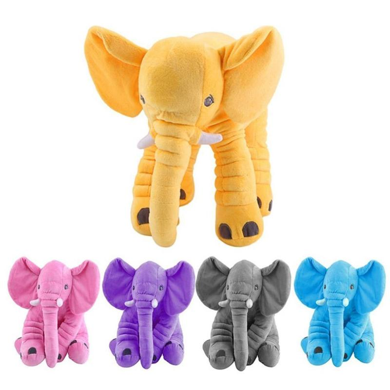 Cartoon Plush Elephant Toy Kids Baby Newborn Playmate Sleeping Back Cushion Stuffed Pillow Toys Elephant Doll Baby Birthday Gift tt motor diy robot reducer dc 3v 12v strong magnetic anti interference dual axis