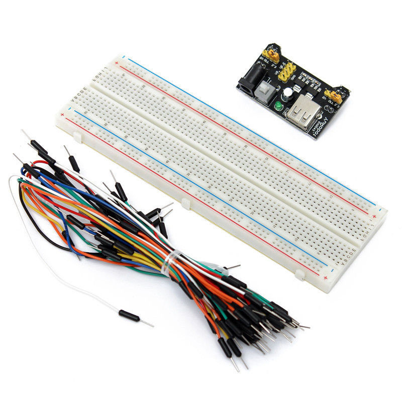 DIY KIT Protoboard Prototype Breadboard Solderless MB102 Power Supply Module 3 3V 5V Breadboard 830 Point