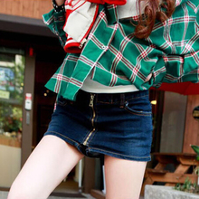 NEW Summer Women's Denim Shorts Skirt Casual Brief Jeans Culottes Fashion Tide Mid Waist Zipper Shorts Skirt S-L