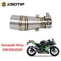 ZSDTRP 35 5 мм средняя выхлопная труба мотоцикла для Kawasaki Z250 Ninja 250/300/250r без выхлопа