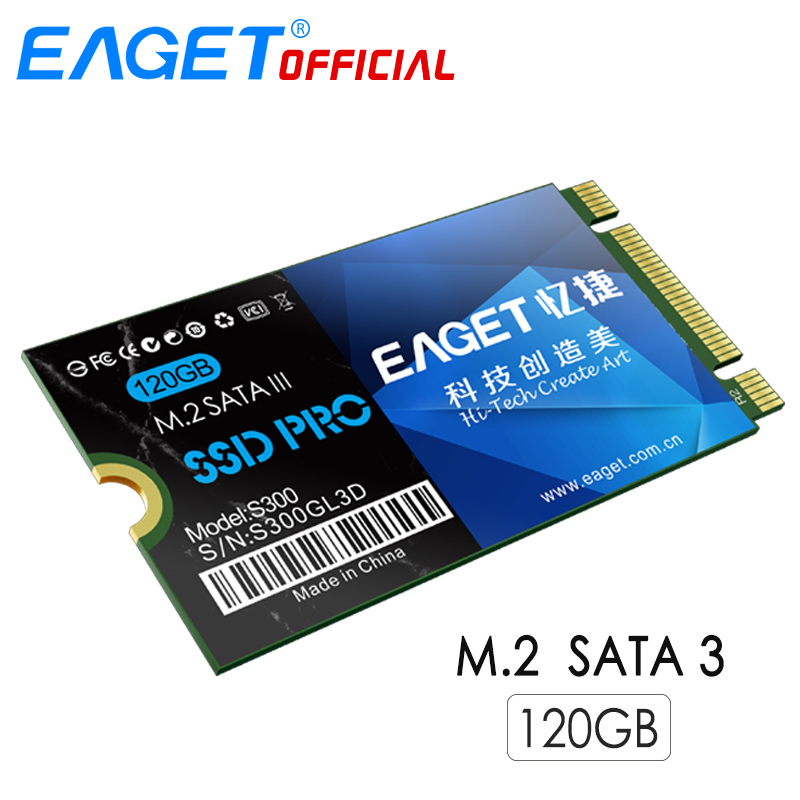 EAGET S300 <font><b>120GB</b></font> Internal Solid State Drive <font><b>SSD</b></font> M.2 <font><b>SATA</b></font> 3.0/M.2 NGFF TLC Chip Hard Drive For Computer PC image