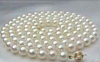 Подлинное AAA 8 9 мм Южно морское белое жемчужное ожерелье 32 дюйма> Продажа ювелирных изделий Бесплатная доставка