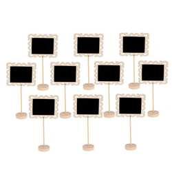 10 шт. Hollowed мини квадратный классные доски Декор границ черная доска Свадебные Кухня знаки доске письма уведомления Доски для записей