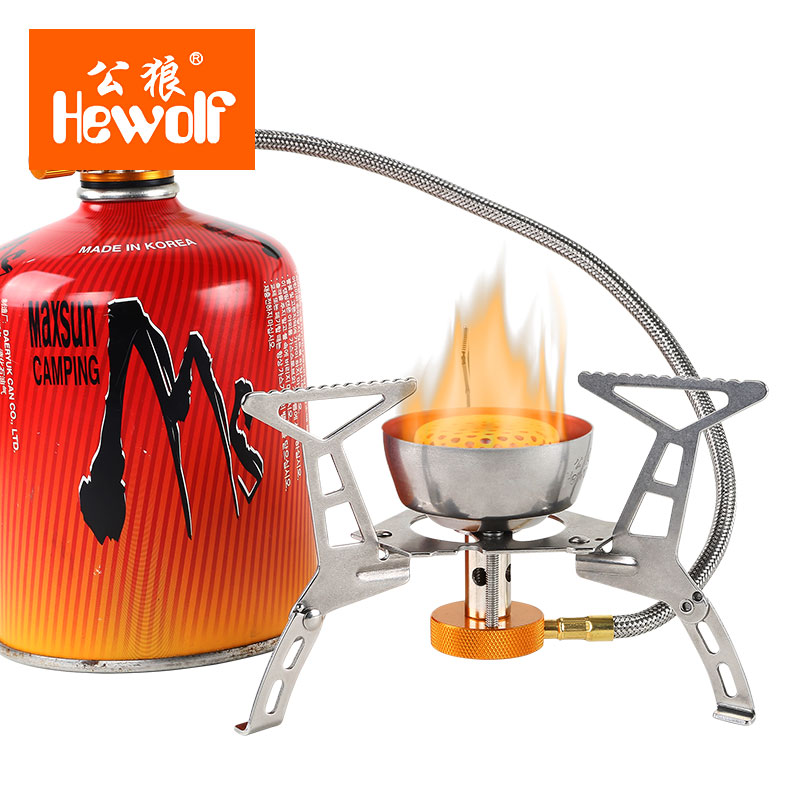 Portable Outdoor Folding Gas Stove Camping Gas Burners Hiking Picnic Stainless Steel Stove Camping Stove Split Burners Tool EJ01 outdoor stainless steel gas stove burner picnic hiking bbq camp backpacking case