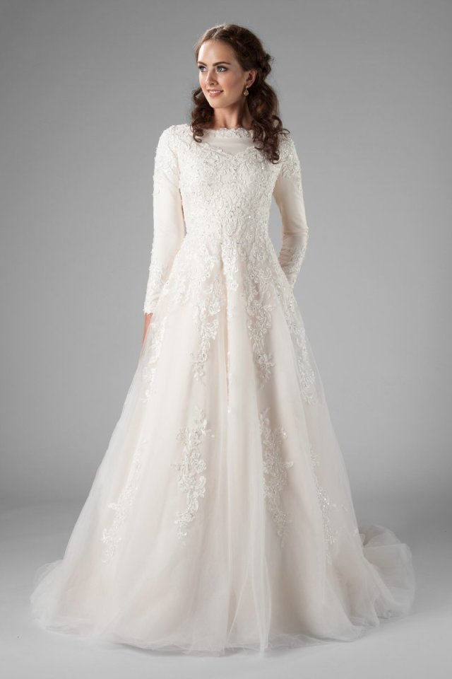 Champagne A Line Modest Wedding Dresses With Long Sleeves High Neck Beaded Lace Lds Modest Bridal Gowns Custom Made Aliexpress,Pakistani Wedding Maxi Dresses New Look