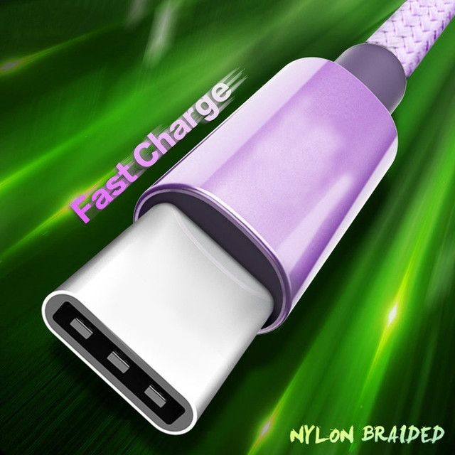 USB C Fast Charge For Samsung S9 S8 Plus Usb Type C Cable 3.1 Charging Data Sync Mobile Phone Wire USBC For Xiami mi note 10 pro