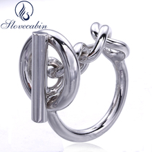 hot deal buy slovecabin 2017 france popular jewelry 925 sterling silver rope chain ring for women rotatable lock wedding ring fine jewelry