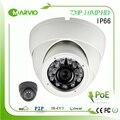 Metal house IP66 водонепроницаемый открытый 1 МП 720 P POE Купольная Ip-камера HD с 802.3af Power Over Ethernet сети камара