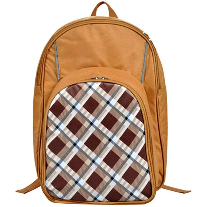 Portable Camping pique-nique sac avec couverts réfrigérateur sac pique-nique ensemble voyage sac à dos refroidisseur sacs en plein air