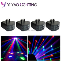 4PCS/LOT DMX512 stage 2x10w RGBW 4in1 led effect Double Butterfly Lights