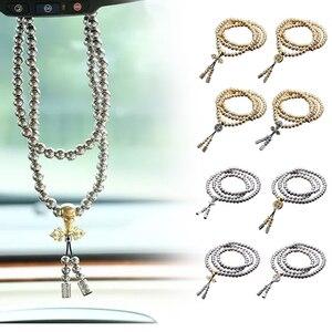 Image 3 - Novo 108 contas de buda colar de aço completo corrente ao ar livre auto defesa mão pulseira corrente edc proteção pessoal multi ferramentas