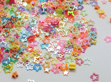 50 Gram 4X3mm Nail Art Mixed Color Hollow Star Sequins Loose Tiny Tips jewelry accessories free shipping