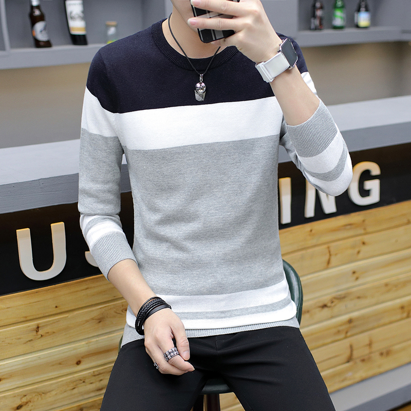 Casual Sweaters Pullovers Outwear Men Autumn Winter New-Fashion 3XL Cotton Thin Good-Quality
