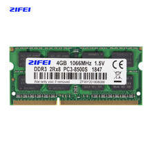 Zifei ddr3 2gb 4gb 1066 mhz 1333mhz 1.5v cl7/9 laptop memória so dimm sdram ram ram