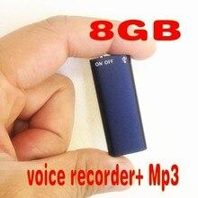 Новое поступление! легкий вес, и маленький, 2 в 1 Мини 8 ГБ 8 г Цифровой Аудио Голос Регистраторы 13 часов + Mp3 Бесплатная доставка