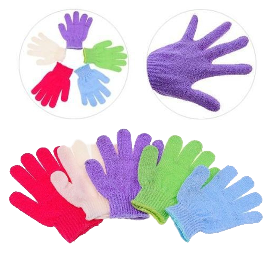 Good 1PC Shower Bath Gloves Exfoliating Wash Skin Spa Massage Body Scrubber Cleaner Bath Glove