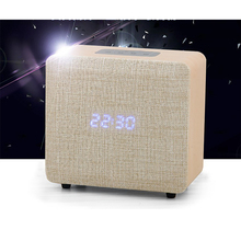 Samtronic ML-101 Wooden Portable Bluetooth Speaker with Alarm clock Wireless Portable Bluetooth Home Theater Party Speaker Sound