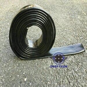 Image 2 - 3/4 inch X 3ft Zwart Vulcan Fire Mouwen Glasvezel Gevlochten Vlam Shield Firesleeving Hitteschild Voor Motor Slang