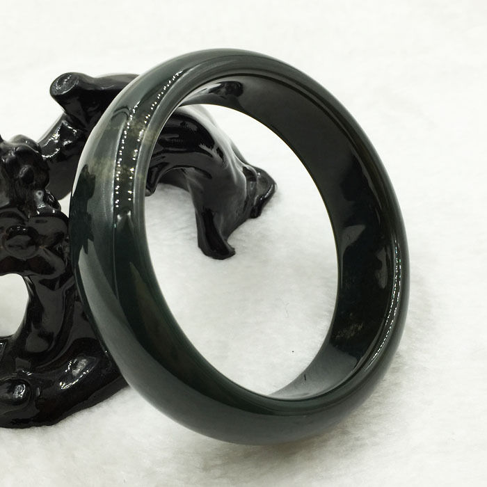 free shipping 60mm Certified Grade A Natural Green Hetian Nephrite Bracelet Bangle цена и фото