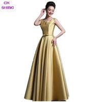 Cheap Custom Size 100 Colors V Neck Bow Belt Long Evening Dress Invisible Pocket Praty Dresses