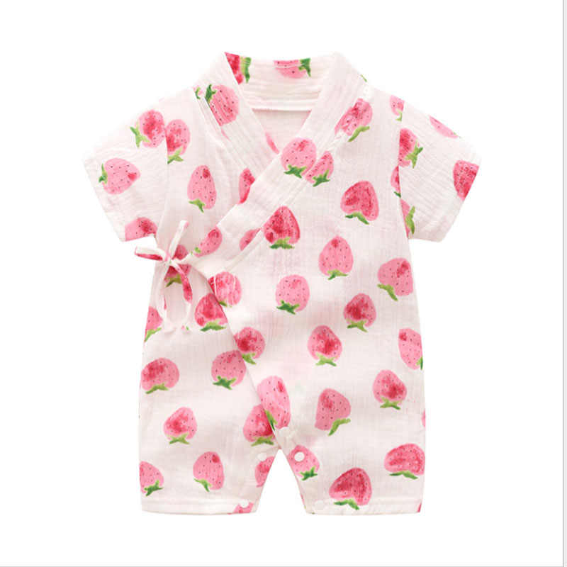 ba2080fe20a00 Summer Baby Girl Clothes Light and Breathable Overalls for Children 0-2  Years old Cute Kimono baby rompers jumpsuit