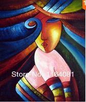 Handgeschilderde Olie Muur Art Nationale Schoonheid Vrouwen Home Decoratie Moderne Abstracte Olieverfschilderij Home Decor