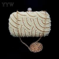 Luxury Plastic Pearl Bag Women clutch bags with interlocking clasp