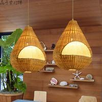 Ogród bambusa Wisiorek Światła restauracja Southeast Asian sklepy hotelowy bar klatka kreatywny rattanowe lampy bambusowe YA7267